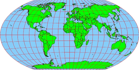 Winkel Tripel Projection Map